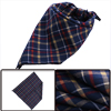 Boy's Navy Blue Plaids Pattern Soft Eating Drinking Napkins