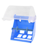 Blue Clear Plastic Wall Mounted Roll Paper Toilet Tissue Box Case