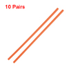 "10 Pairs Orange Plastic Nontoxic Tableware Chopsticks 9.5"" Length"