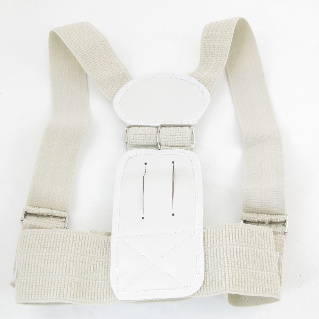 Beige Back Posture Shoulder Support Band Belt Brace Corrector Children