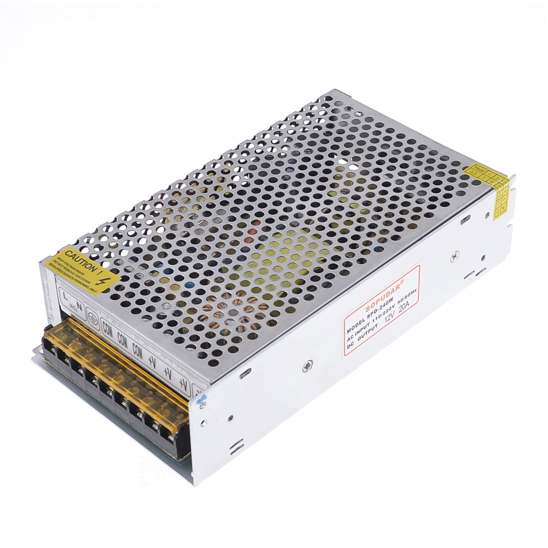 Heatsink Cooling AC 110/220V to 12V DC 20A 240W Switch Power Supply Adapter