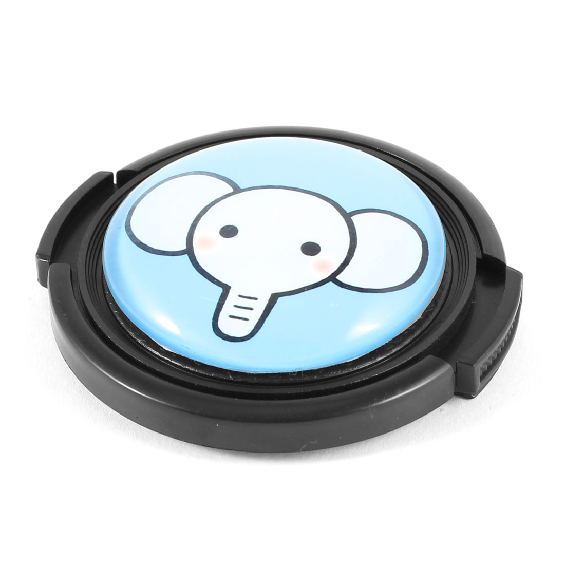 49mm Cartoon Elephant Pattern Clip On Front Lens Cap Cover for DSLR Camera
