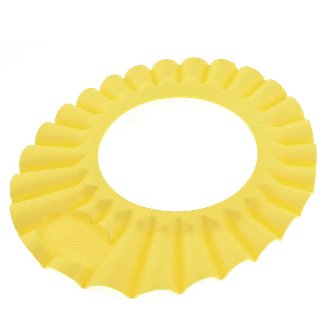 Shampoo Bath Shower Cap Hat Wash Hair Shield Yellow