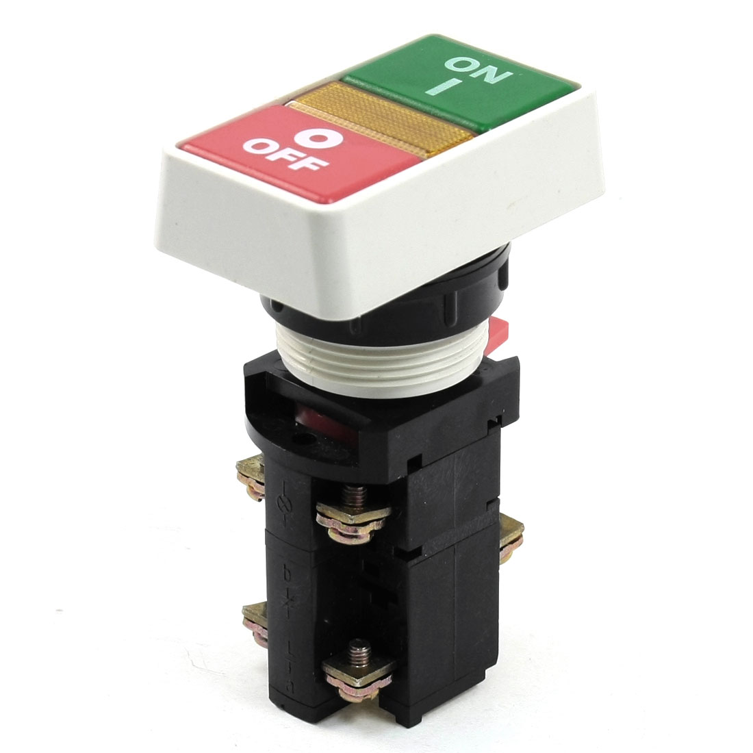 Yellow Light Indicator ON/OFF Momentary Push Button Switch DPDT