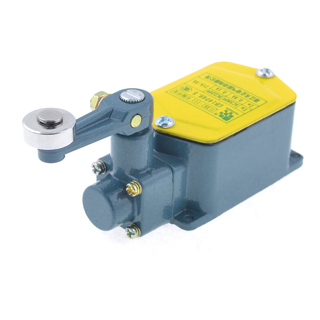 Teal Blue Roller Lever Actuator Enclosed Compact Limit Switch JLXK1-111