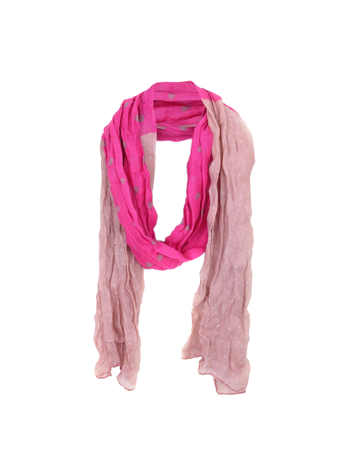 Boys Girls Fuchsia Pink All Over Ruched Soft Long Scarf