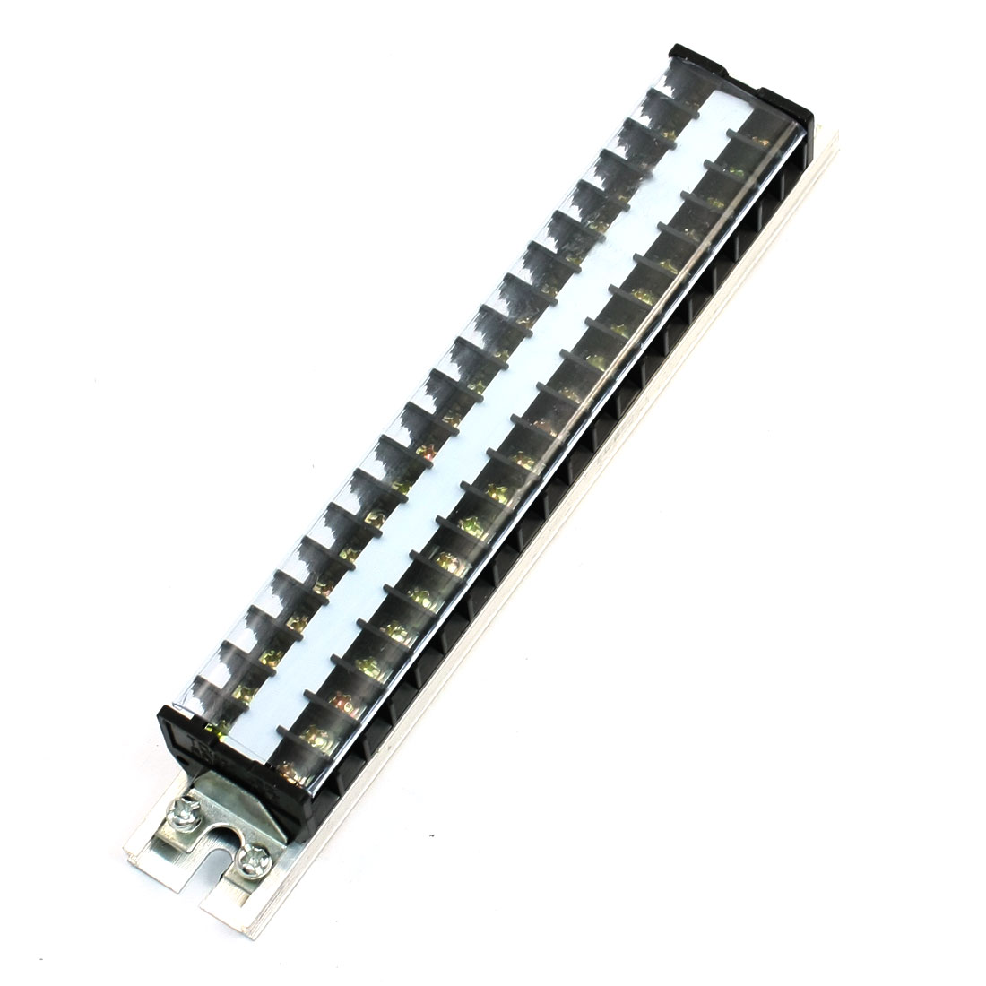 25mm DIN Rail 20 Position 660V 15A Barrier Screw Terminal Strip TD-1520