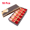 Girl Gift Coral Pink Dark Red Bath Soap Rose Petals 18 Pcs w Box Case