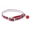 Metal Single Pin Buckle Leopard Pattern Jingle Bell Accent Pet Collar Fuchsia
