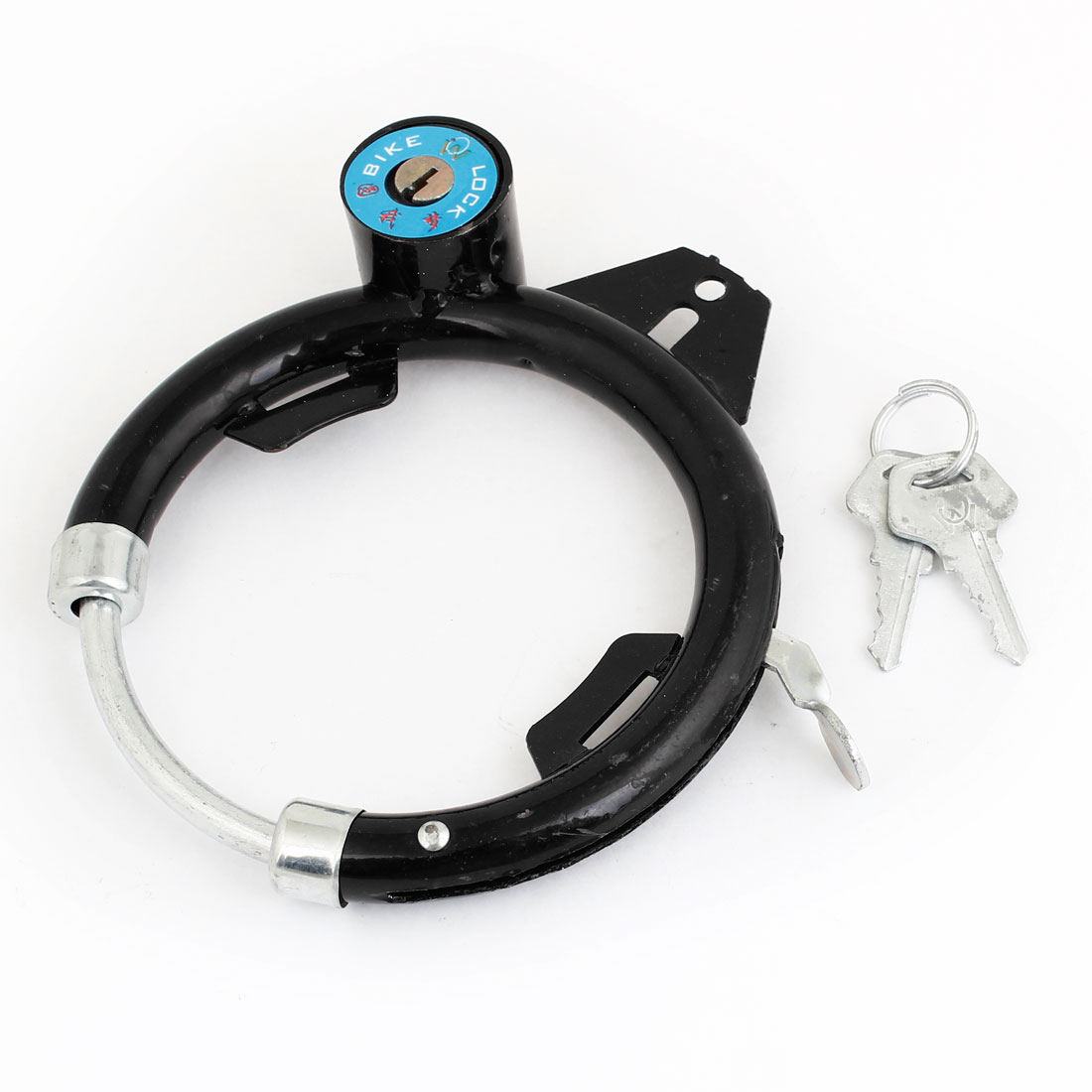 Metal Cable O Shaped Security Lock Black for Bike Bicycle Motorcycle