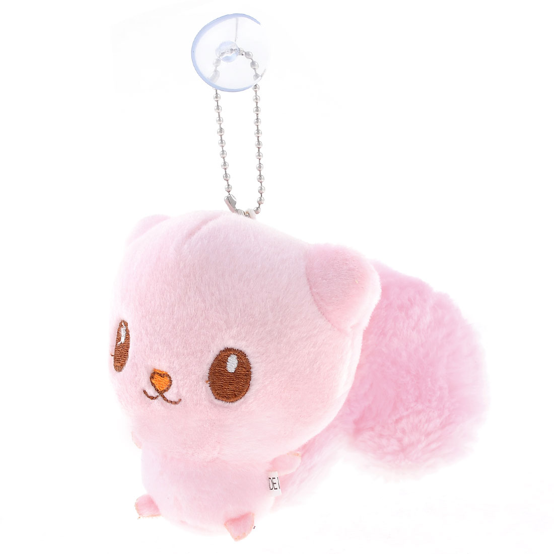 Light Pink Stuffed Plush Squirrel Toy Suction Cup Ornament
