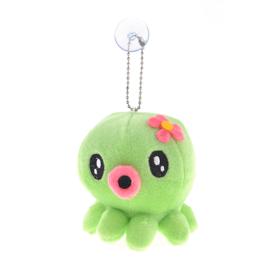 """Car Light Green Plush Octopus Suction Cup Toy Doll Pendant 6.3"""" Length"""