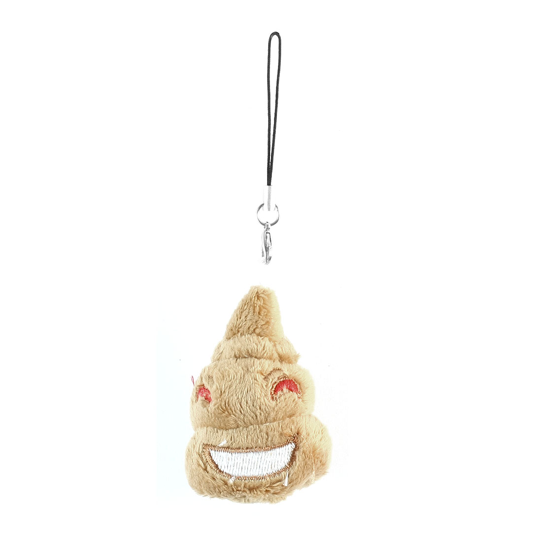Camel Color Stuffed Cotton Poo Toy Doll Cell Phone Pendant Charm
