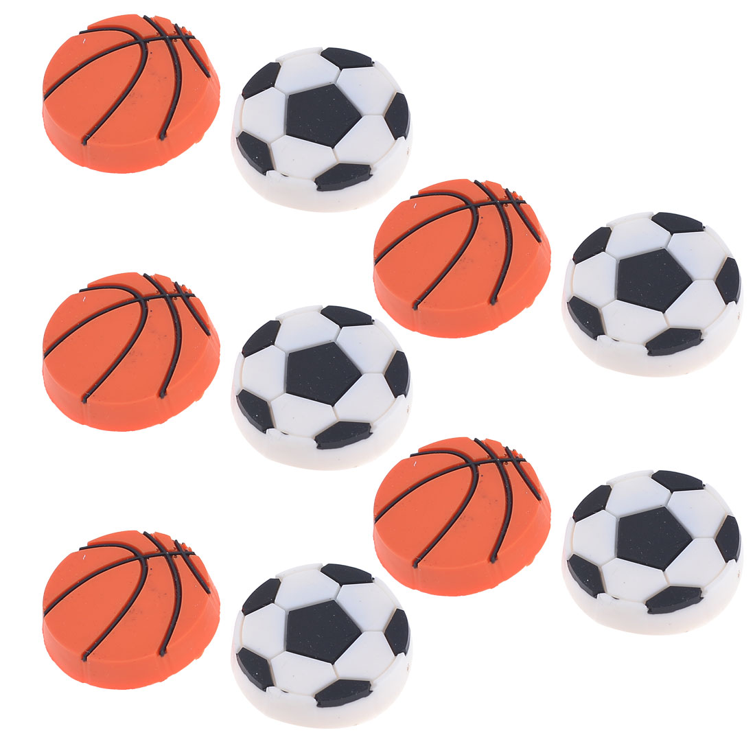10 Pcs Plastic Basketball Football Design File Closet Magnets