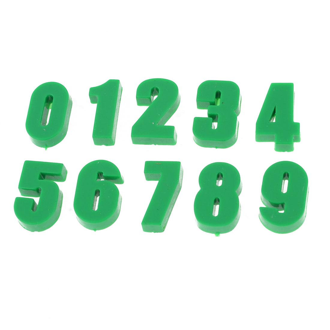 10 Pcs Plastic Shell Zero to Nine Numbers Design Fridge Magnets