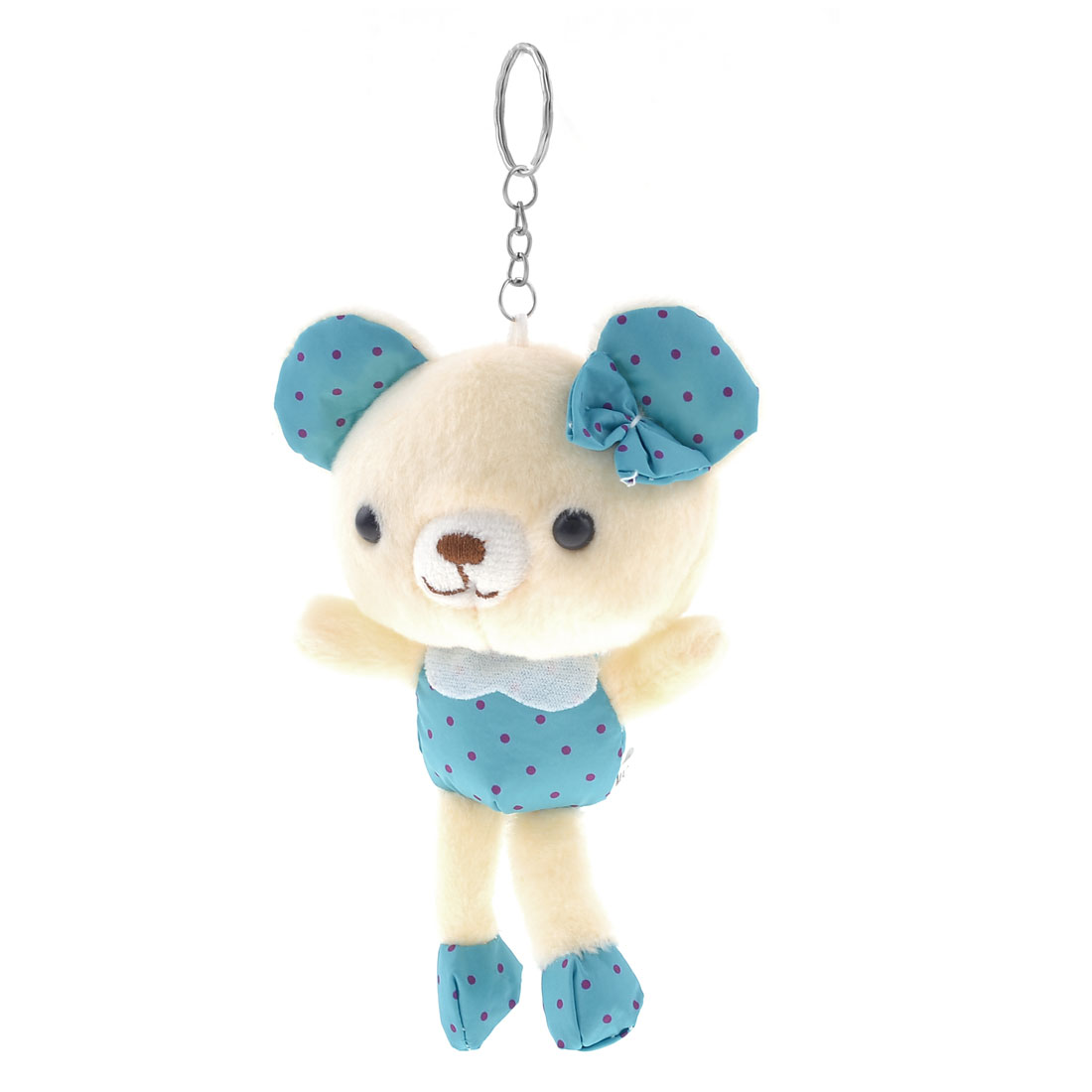 Home Car Purple Dots Pattern Plush Stuffed Cotton Bear Toy Pendant