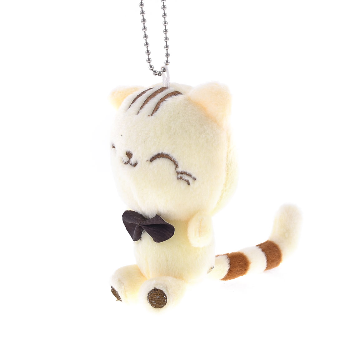 Beige Plush Stuffed Cotton Tiger Suction Cup Toy Pendant for Car