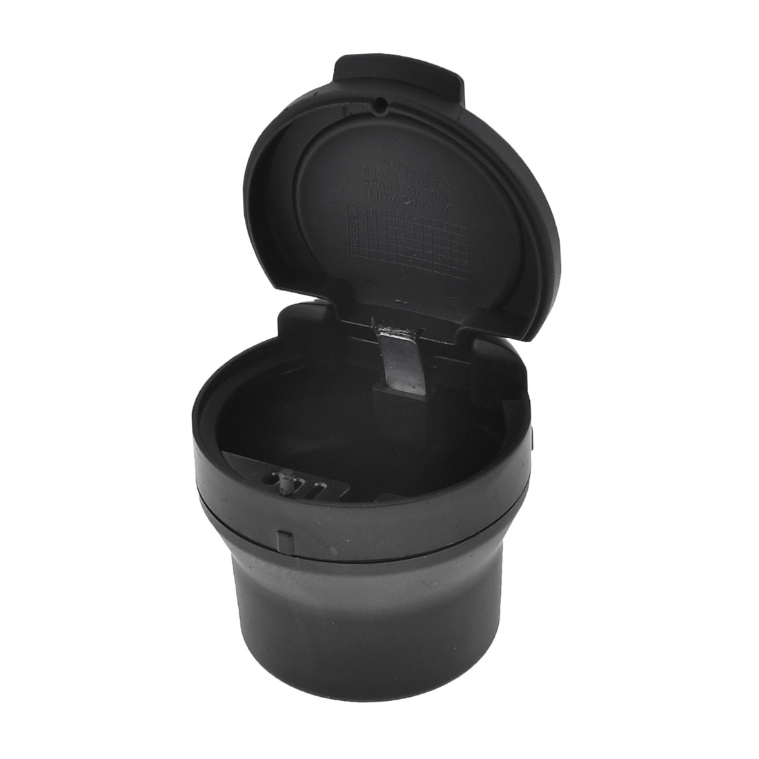 Home Car Portable Cylinder Design Plastic Rubber Ashtray Black