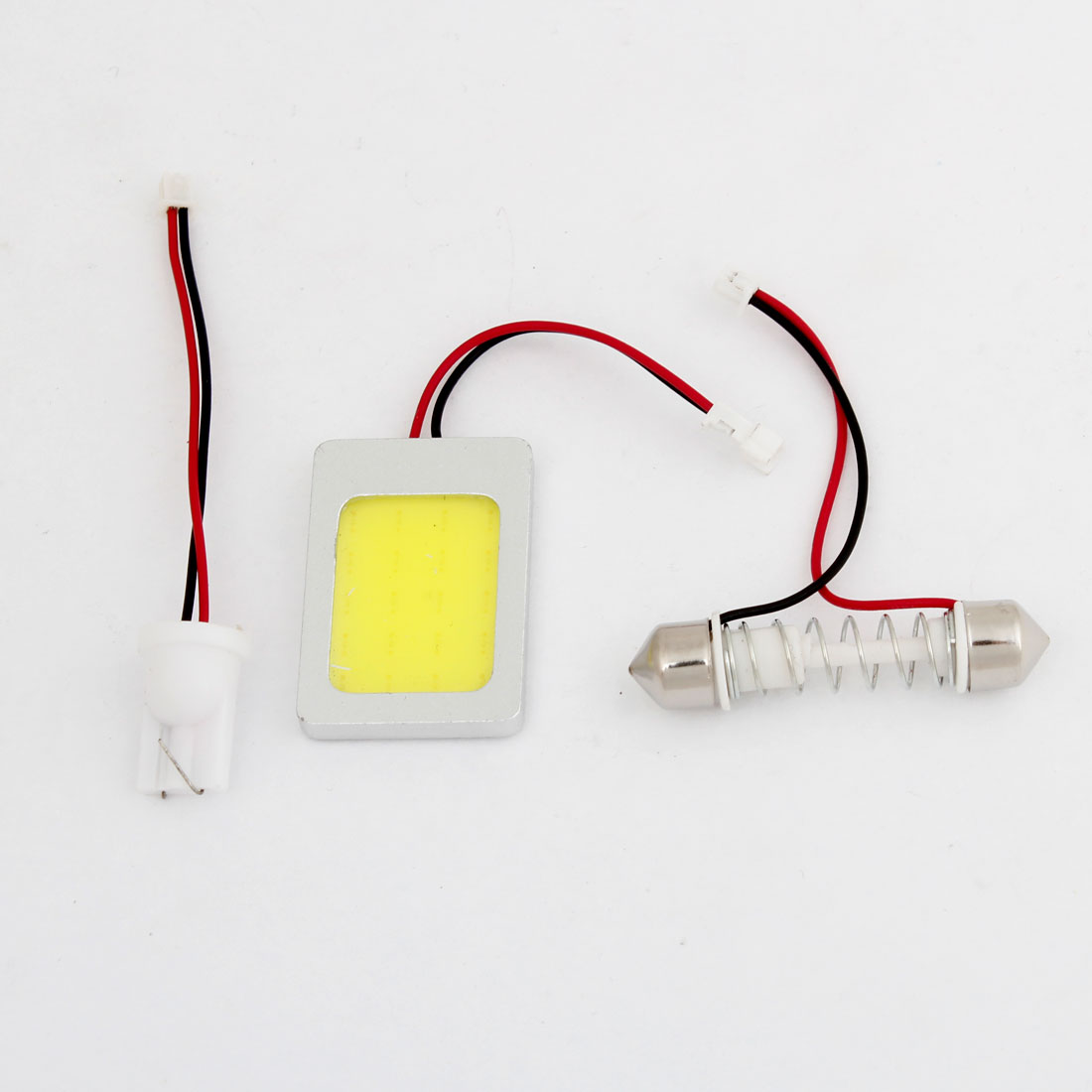 Vehicle 20 White COB LED Dome Lamp Bulb w T10 Festoon Adapter 1.5W