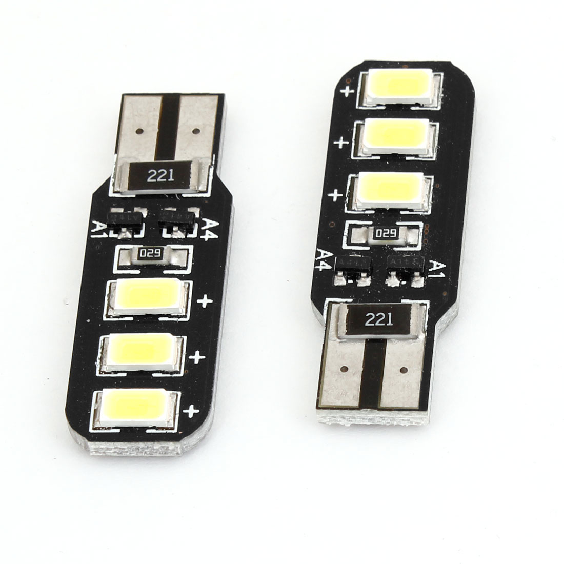 2 x T10 White 6 LED 5630 SMD Canbus Dashboard Side Marker Light Bulb for Car