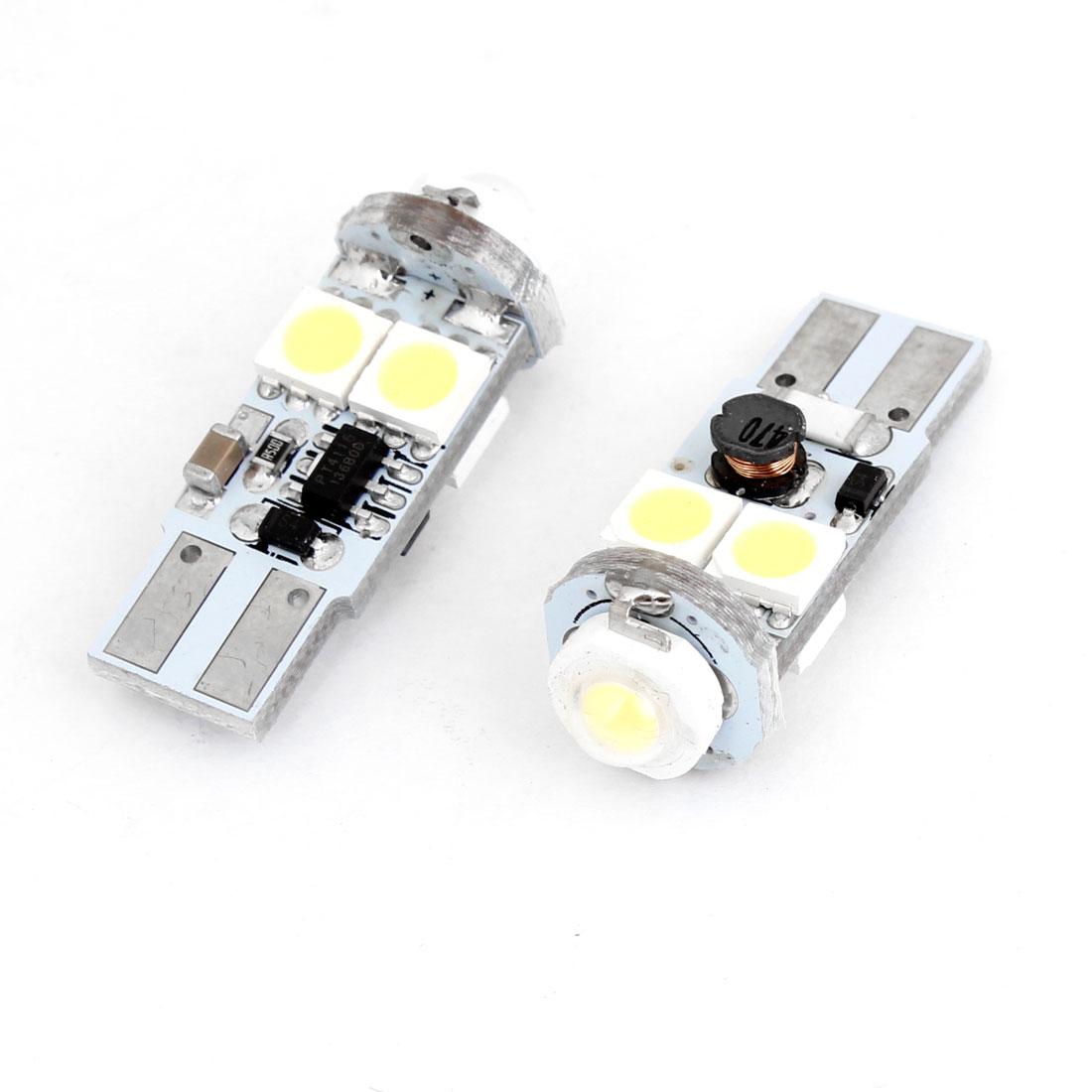 Pair White T10 White 4 SMD LED Backup Light Reverse Lamp Bulb 1W DC 12V