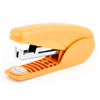 Portable Office Stationery Paper Stapling Stapler Yellow Silver Tone