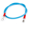 Motorcycle 90cm Length Blue Rubber Cover Steel Brake Line
