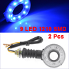 2 Pcs 9 Blue 1210 3528 SMD LED Round Shape Motocycle Turn Signal Light