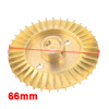 Water Pump Part Double Side 66mm Diameter Gold Tone Brass Impeller