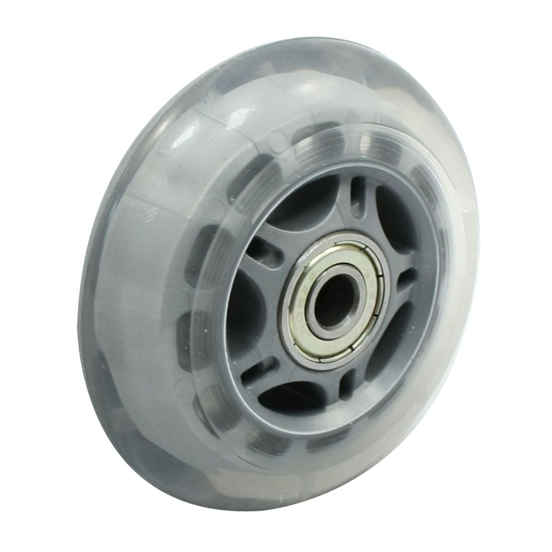 "Skating Shoes 2.8"" Dia 608ZZ Bearing Plastic Clear Gray Single Skate Wheel"