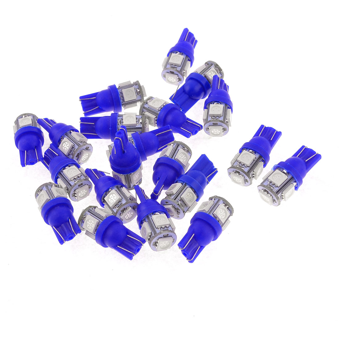 20PCS T10 194 168 W5W 5050 SMD 5 LED Car Side Light Bulb Dashboard Lamp Blue