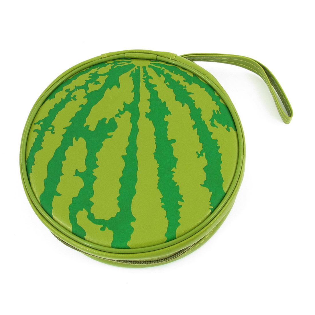 Green Faux Leather Watermelon Shaped 24 Capacity CD Bag Holder