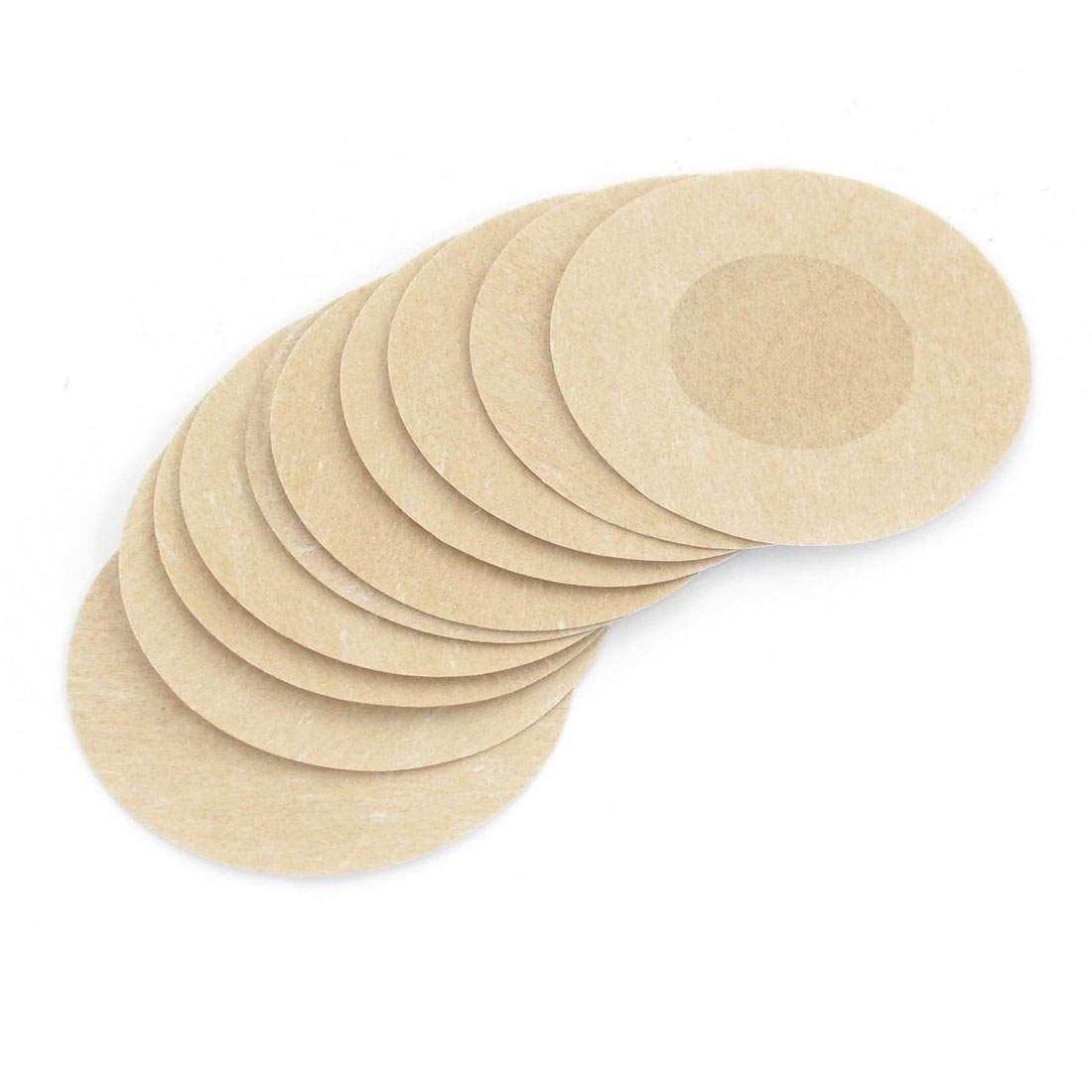 5 Pairs Beige Round Shaped Nipple Cover Pads for Lady