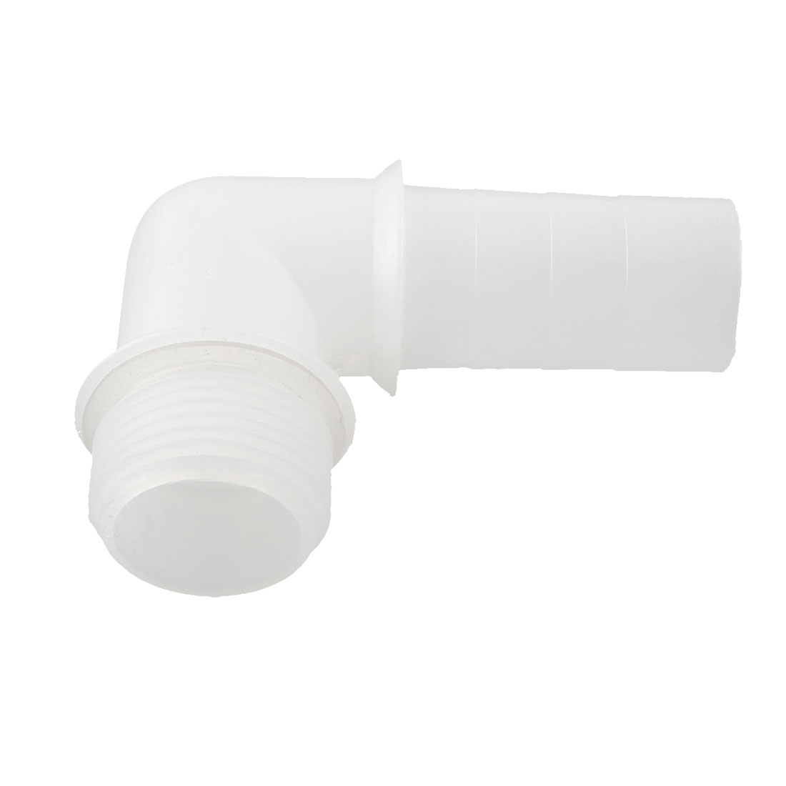 Clear White Plastic 90 Degree Pipe Hose Coupler Adaptor 32mmx22mm Replaceable