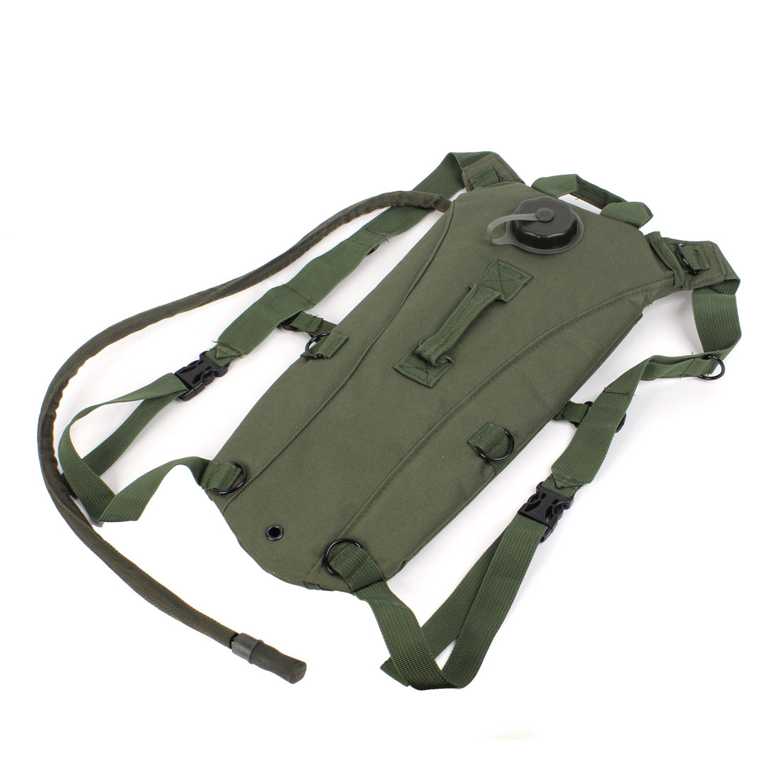 Hiking 3L TPU Hydration System Water Bladder Bag Backpack Army Green