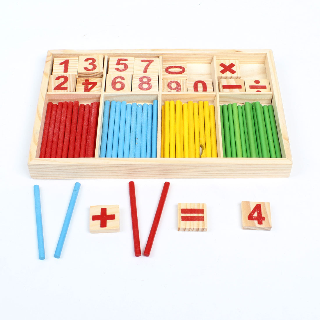 Mathematical Intelligence Stick Digital Figure Game Box Figure Block Toy Set