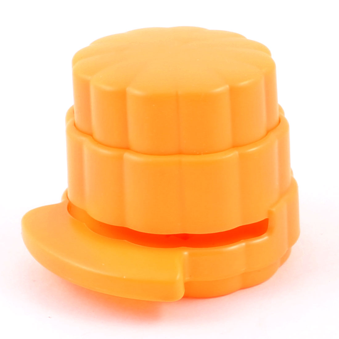 Office Yellow Environmental Press Button Paper Stapless Stapler Paperclip