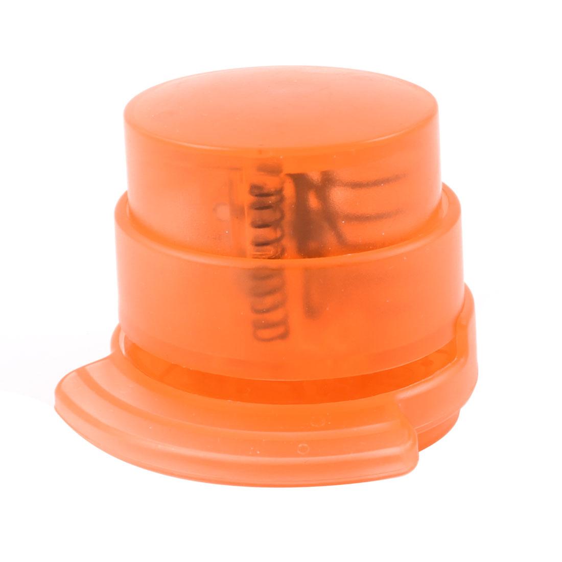 Office Home Orange Environmental Paper Stapless Stapler Paperclip
