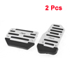 Car Automatic AT Gas Brake Metal Pedal Covers Silver Tone Black 2 Pcs