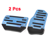 2PCS Blue Black Antislip Car Truck Automatic AT Gas Brake Pedal Covers