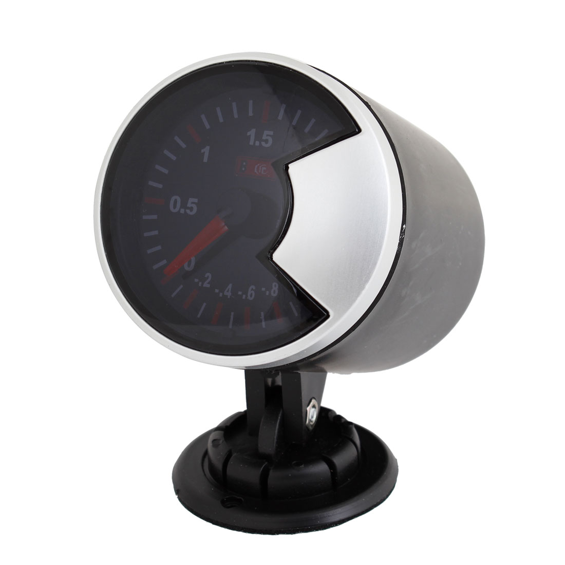 "Smoke Len 2.4"" 60mm Pointer Car Turbo Boost Gauge Meter w Black Pod Holder"