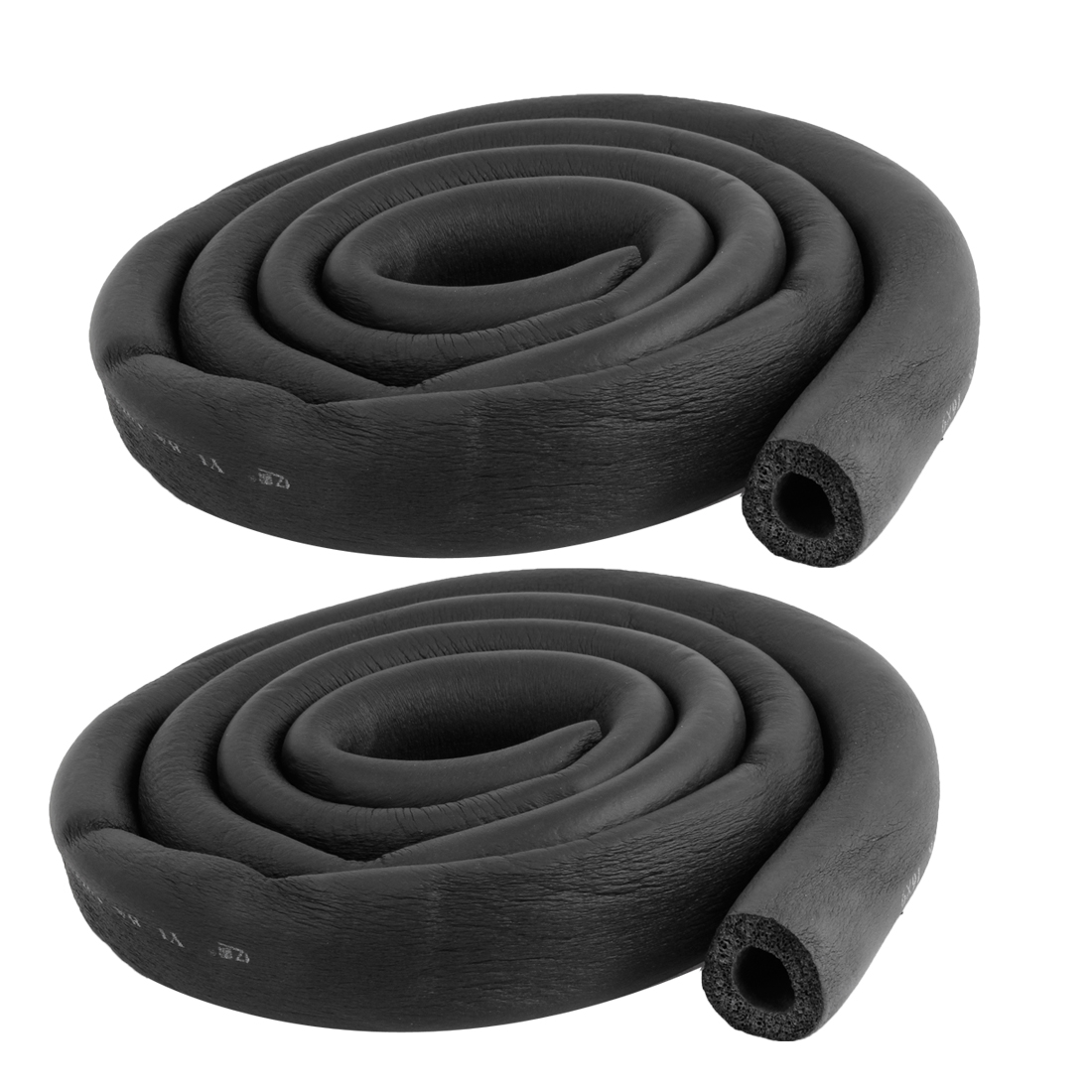 "2 Pcs Foam Hose 5/8"" x 3/8"" Air Conditioner Heat Insulation Pipe Black"