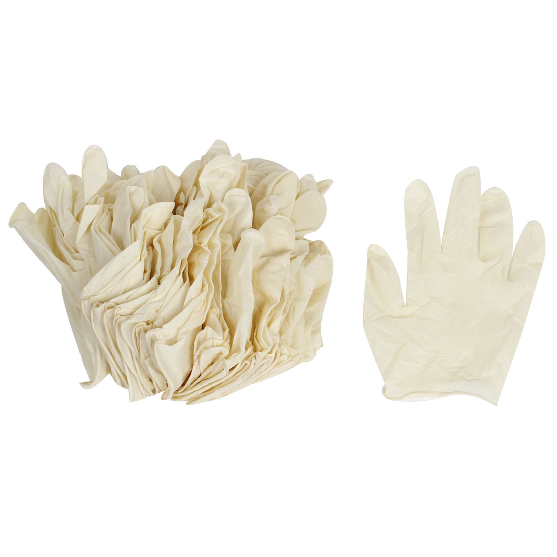 Beige Disposable Anti-static ESD Latex Work Gloves 50 Pairs