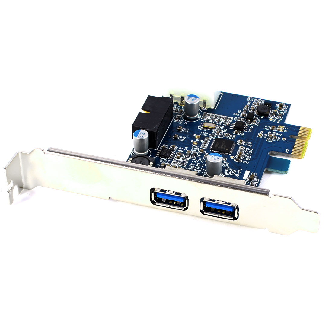 Desktop PC Internal 20pin PCI-E PCIe to 2-Port USB 3.0 Controller Card Adapter