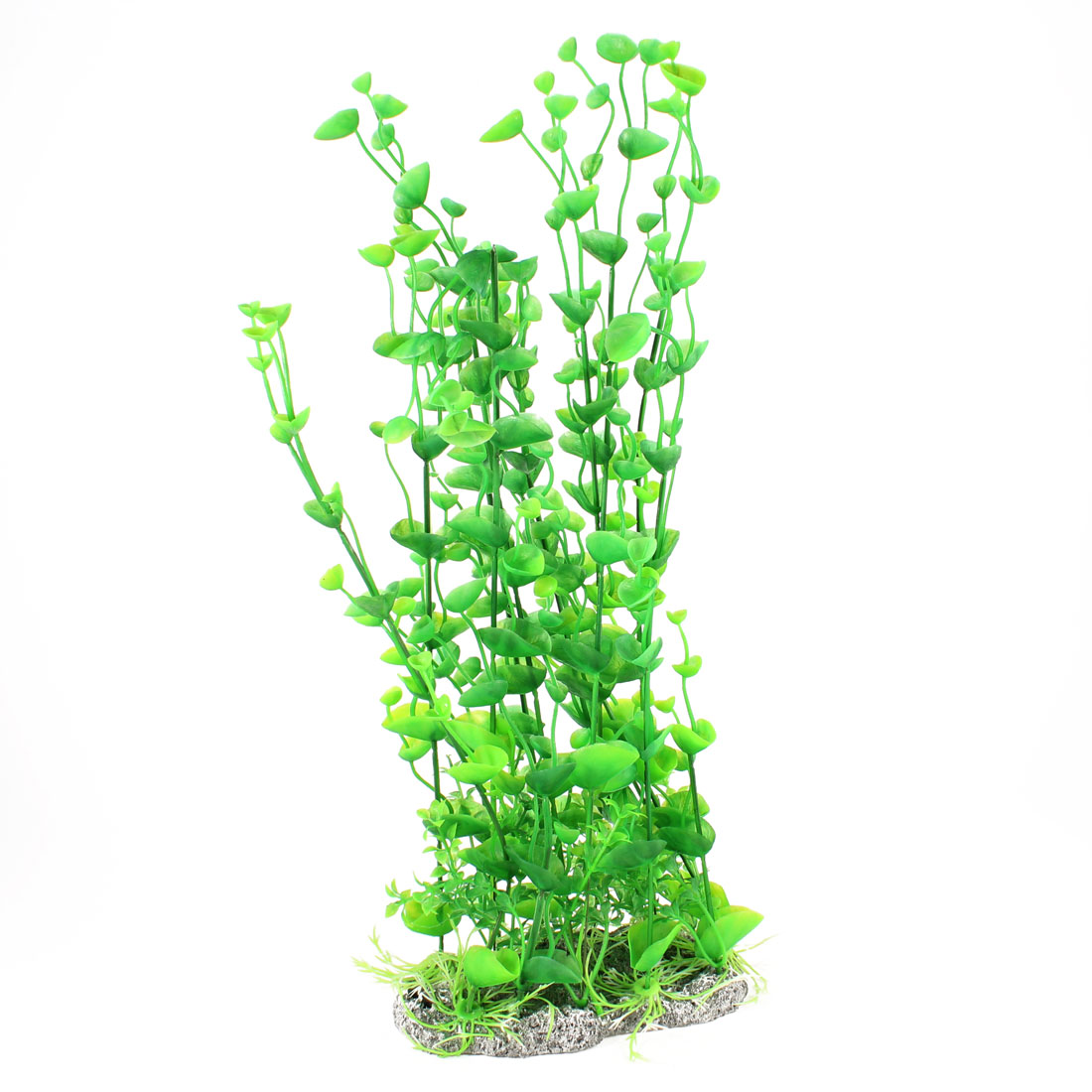 "17.3"" Height Artificial Ceramic Base Green Leaf Water Plants Aquarium"