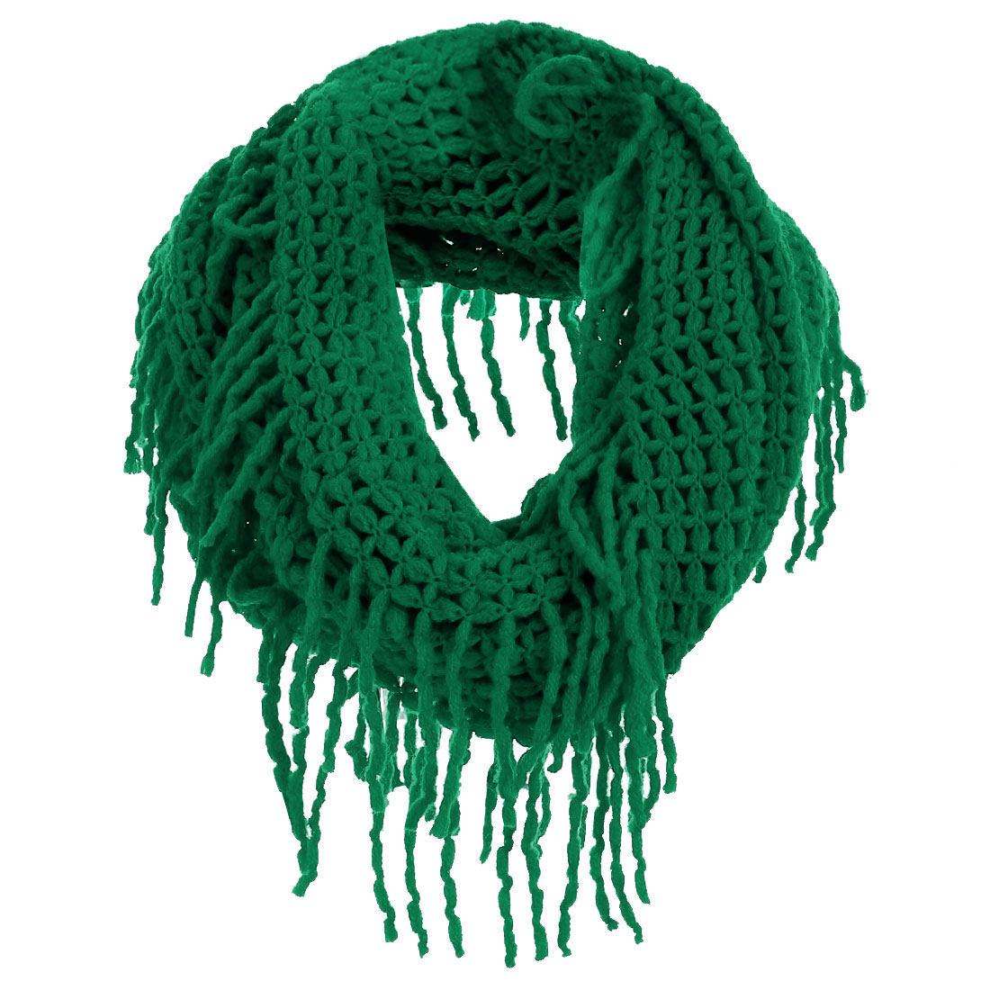 Women's Comfortable Green Soft Warm Knitted Scarf