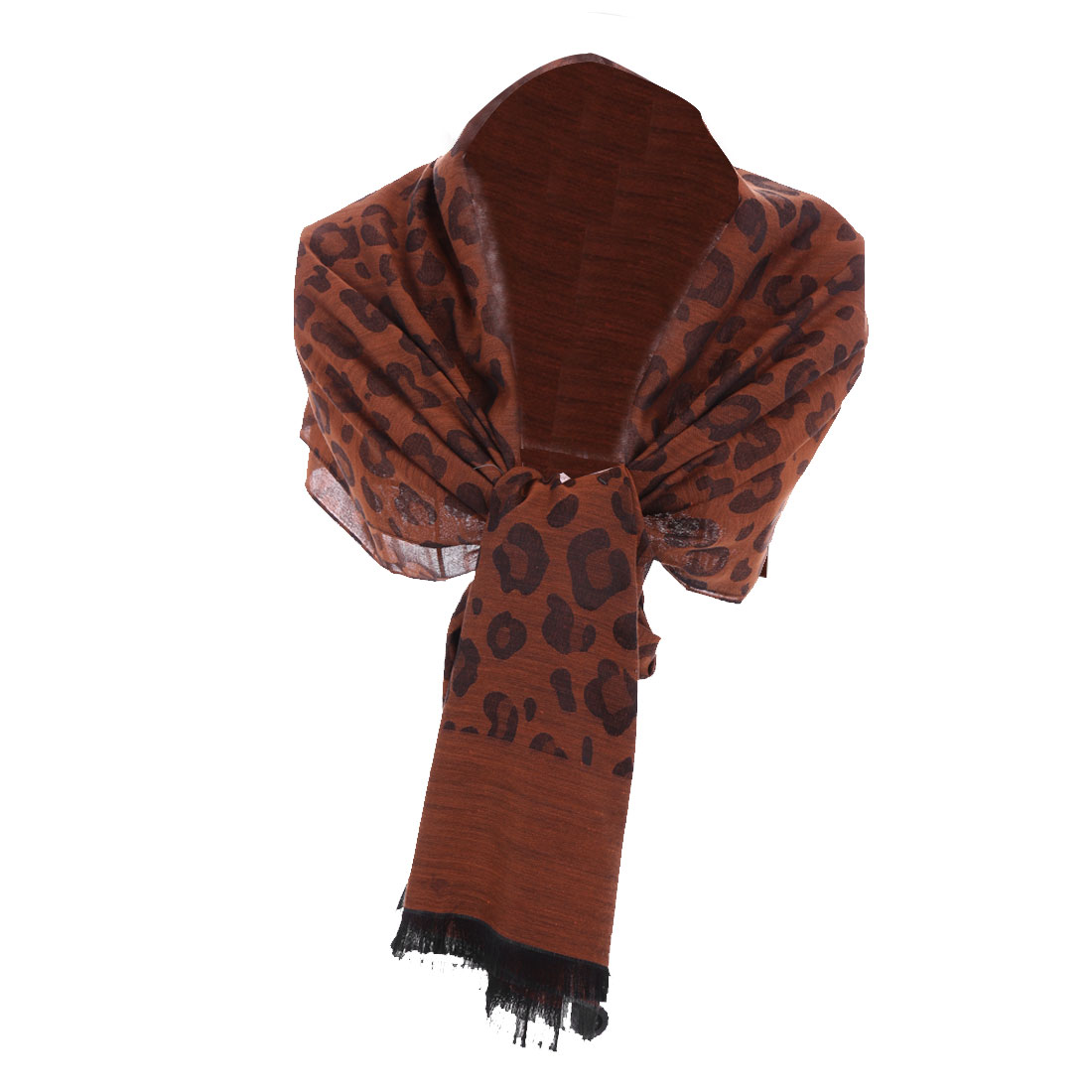 Women's Fashion Brown Leopard Printing Easy-matching Scarf