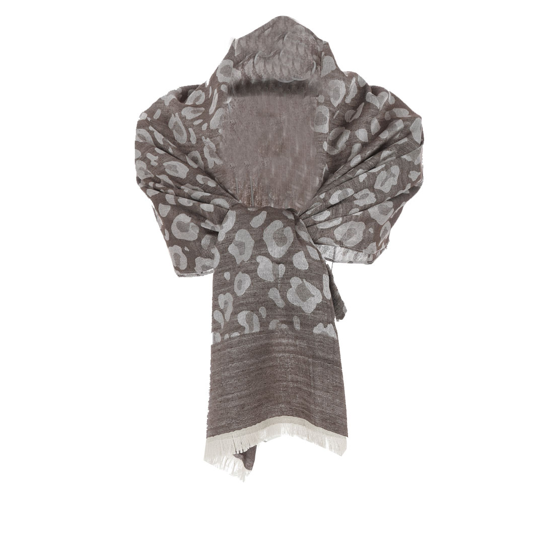 Woman's Coffee Leopard Prints Easy-matching Soft Shawl
