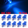 T5 B8.5D 2721 286 5mm LED Car Interior Dome Bulb Dashboard Light Lamp Blue 10PCS