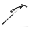 Anti-shock 4-Section Adjustable Telescoping Trekking Pole Black Silver Tone
